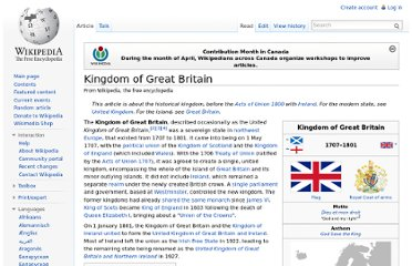 http://en.wikipedia.org/wiki/Kingdom_of_Great_Britain