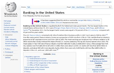 http://en.wikipedia.org/wiki/Banking_in_the_United_States