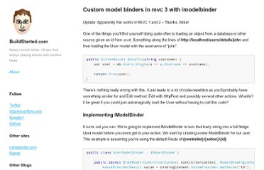 http://buildstarted.com/2010/09/12/custom-model-binders-in-mvc-3-with-imodelbinder/