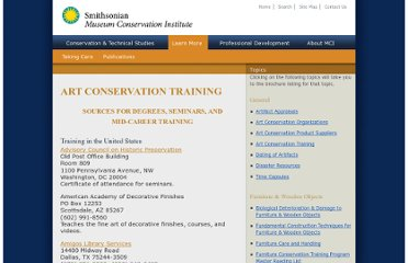 http://www.si.edu/mci/english/learn_more/taking_care/conservation_training.html