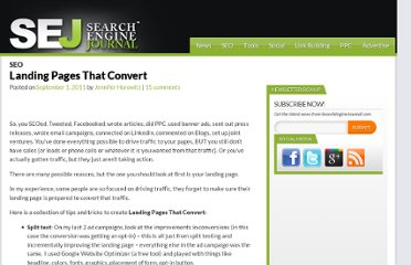 http://www.searchenginejournal.com/landing-pages-that-convert/32435/