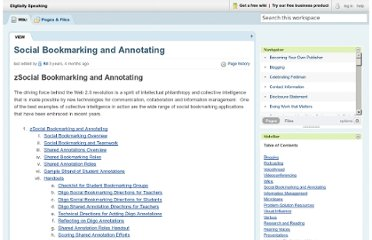 http://digitallyspeaking.pbworks.com/w/page/17791579/Social%20Bookmarking%20and%20Annotating