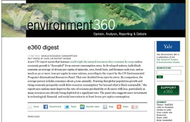 http://e360.yale.edu/digest/world_resource_consumption__may_triple_by_2050_un_report_warns/2943/
