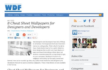 http://www.webdesignfact.com/2011/01/cheat-sheets-for-web-designer-developer.html