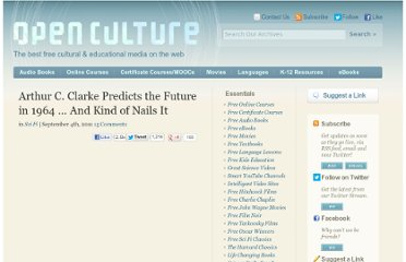 http://www.openculture.com/2011/09/arthur_c_clarke_looks_into_the_future_1964.html