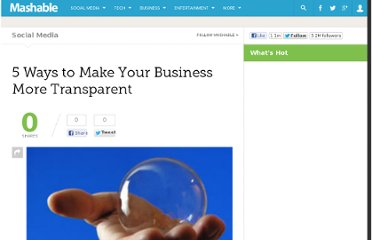 http://mashable.com/2009/09/30/business-transparency/