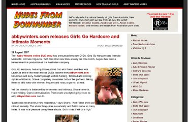 http://nudesfromdownunder.com/news/2007/09/03/abbywinterscom-releases-girls-go-hardcore-and-intimate-moments/