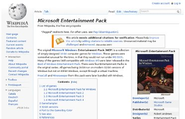 http://en.wikipedia.org/wiki/Microsoft_Entertainment_Pack