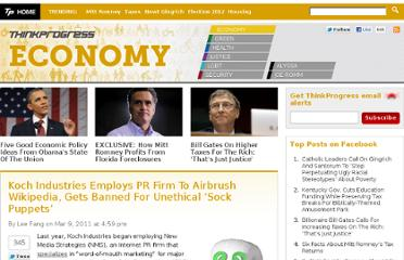 http://thinkprogress.org/economy/2011/03/09/149408/koch-wikipedia-sock-puppet/