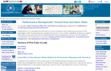 http://managementhelp.org/performancemanagement/goals-and-steps.htm