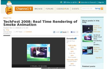 http://channel9.msdn.com/Blogs/Tina/TechFest-2008-Real-Time-Smoke-Animation