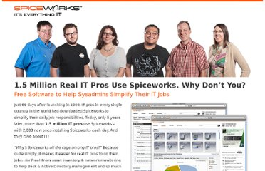 http://learnmore.spiceworks.com/are-you-in-spiceworks