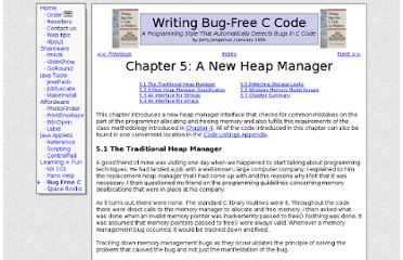 http://www.duckware.com/bugfreec/chapter5.html