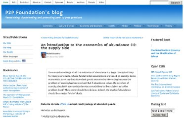 http://blog.p2pfoundation.net/an-introduction-to-the-economics-of-abundance-1-the-supply-side/2009/12/05