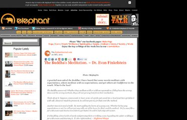 http://www.elephantjournal.com/2011/07/the-buddhas-meditation-dr-evan-finkelstein/