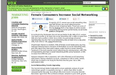 http://www.marketingvox.com/female-consumers-increase-social-networking-045740/