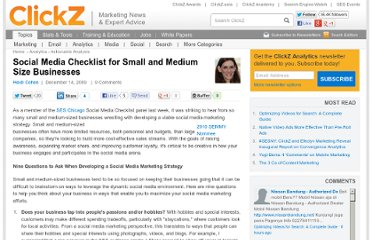 http://www.clickz.com/clickz/column/1705971/social-media-checklist-small-medium-size-businesses
