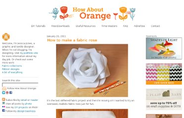 http://howaboutorange.blogspot.com/2011/01/how-to-make-fabric-rose.html