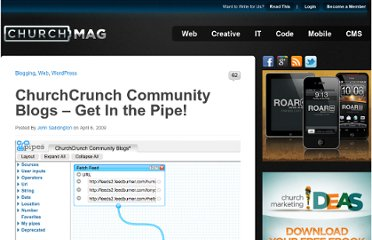 http://churchm.ag/churchcrunch-community-blogs-get-in-the-pipe/