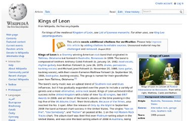 http://en.wikipedia.org/wiki/Kings_of_Leon