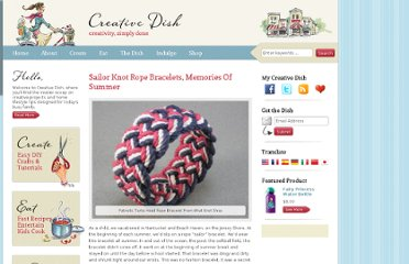 http://www.creativedish.com/2011/06/sailor-knot-rope-bracelets-memories-of-summer/