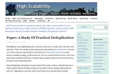 http://highscalability.com/blog/2011/5/5/paper-a-study-of-practical-deduplication.html