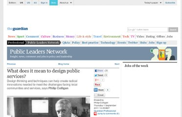 http://www.guardian.co.uk/public-leaders-network/blog/2011/sep/01/design-public-services