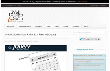 http://webdesignandsuch.com/add-a-calendar-date-picker-to-a-form-with-jquery/