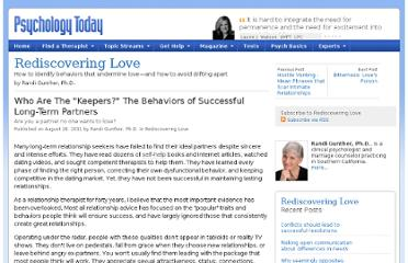 http://www.psychologytoday.com/blog/rediscovering-love/201108/who-are-the-keepers-the-behaviors-successful-long-term-partners