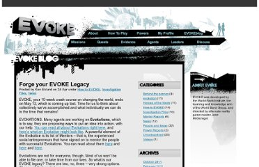 http://blog.urgentevoke.net/2010/04/24/forge-your-evoke-legacy/