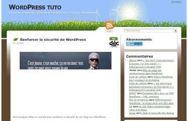 http://wordpress-tuto.fr/securiser-wordpress-1179