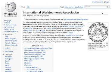 http://en.wikipedia.org/wiki/International_Workingmen%27s_Association