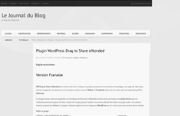 http://www.lejournaldublog.com/plugin-wordpress-drag-to-share-extended/