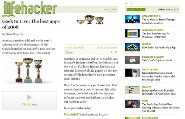 http://lifehacker.com/221920/geek-to-live--the-best-apps-of-2006