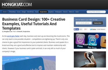 http://www.hongkiat.com/blog/business-card-design-100-creative-examples-useful-tutorials-and-templates/