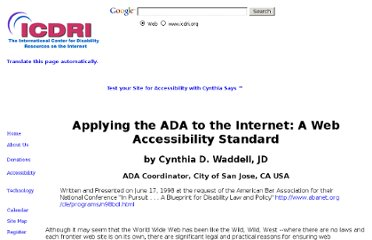 http://www.icdri.org/CynthiaW/applying_the_ada_to_the_internet.htm