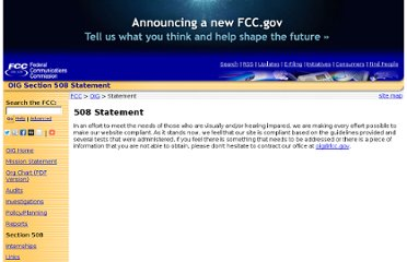 http://www.fcc.gov/oig/oigsection508.html