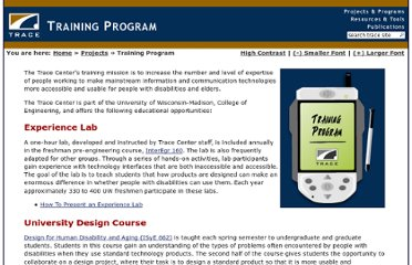 http://trace.wisc.edu/training/