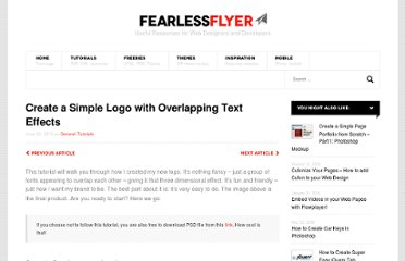 http://fearlessflyer.com/2010/06/create-a-simple-logo-with-overlapping-text-effects/