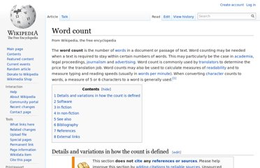 http://en.wikipedia.org/wiki/Word_count