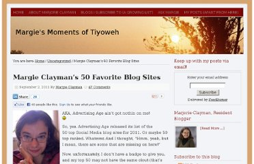 http://www.margieclayman.com/margie-claymans-50-favorite-blog-sites