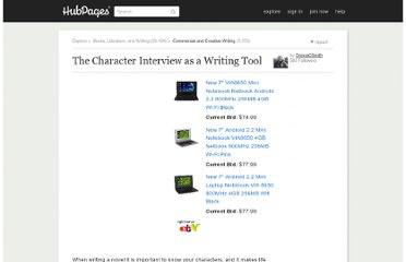 http://donnacsmith.hubpages.com/hub/The-Character-Interview-as-a-Writing-Tool