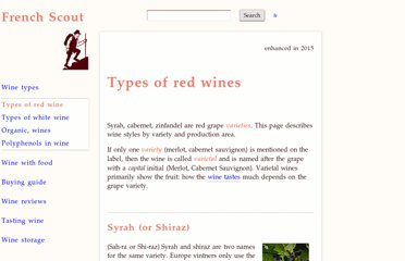 http://www.frenchscout.com/types-of-red-wines