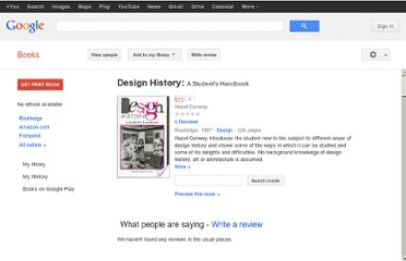 http://books.google.co.nz/books/about/Design_History.html?id=Z_T_n1_hlgMC#v=onepage&q&f=false