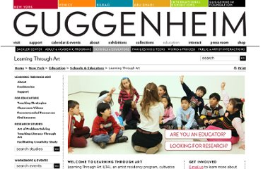 http://www.guggenheim.org/new-york/education/school-educator-programs/learning-through-art
