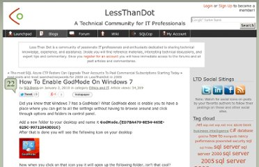 http://blogs.lessthandot.com/index.php/ITProfessionals/EthicsIT/how-to-enable-godmode-on-windows-7
