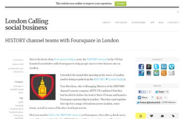 http://londoncalling.co/2011/02/history-channel-teams-with-foursquare-in-london/