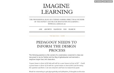 http://imaginelearning.tumblr.com/