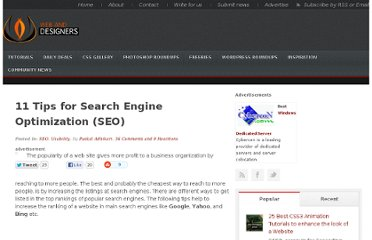 http://www.webanddesigners.com/11-tips-for-search-engine-optimization-for-your-website/