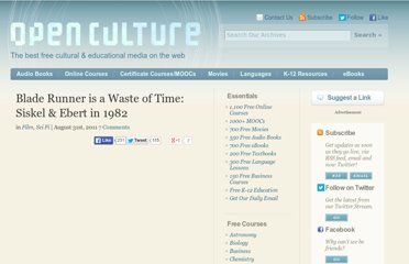http://www.openculture.com/2011/08/blade_runner_is_a_waste_of_time.html